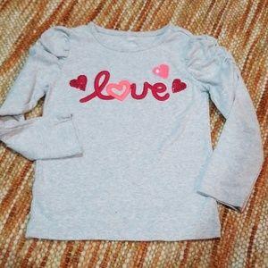 Girls 4 4t gymboree love heart shirt
